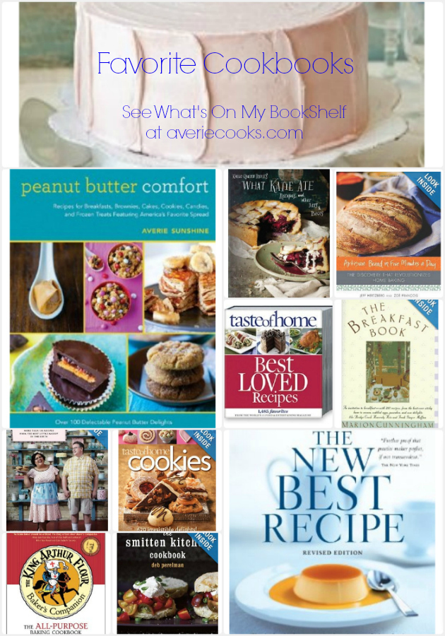 Favorite Cookbooks - See What's On My Bookshelf at averiecooks.com
