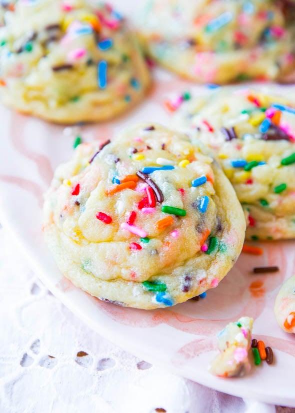 Softbatch Funfetti Sugar Cookies (from scratch not a mix) - Recipe at averiecooks.com