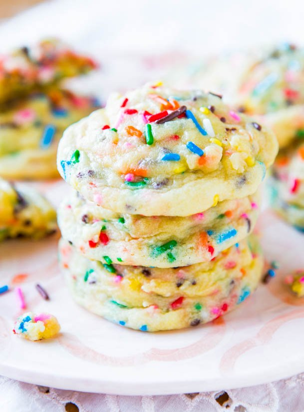Softbatch Funfetti Sugar Cookies (from scratch not a mix) - Recipe at averiecooks.com