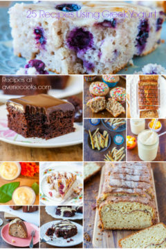25 Recipes Using Greek Yogurt and Chobani Giveaway