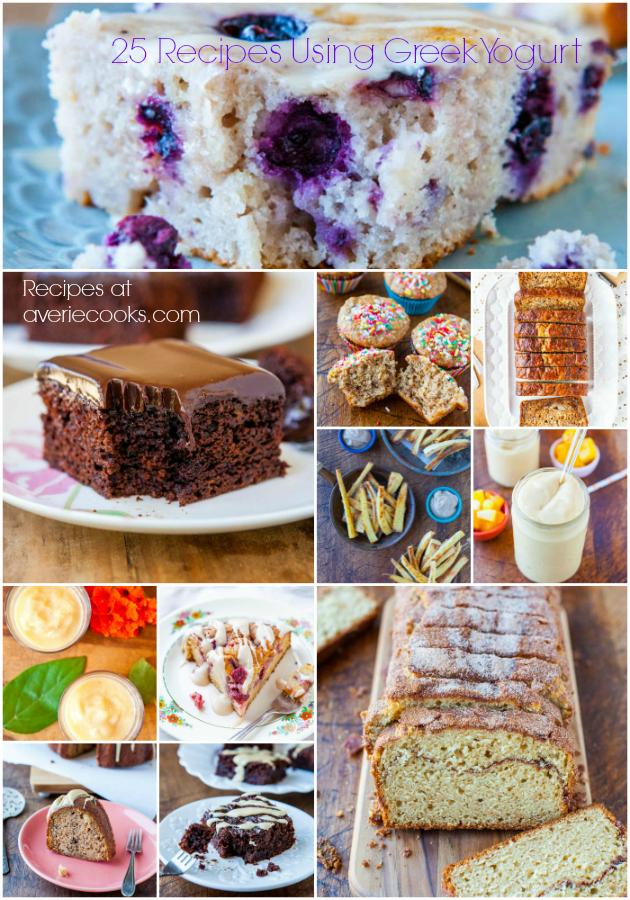 25 Recipes Using Greek Yogurt - Get the Recipes at averiecooks.com