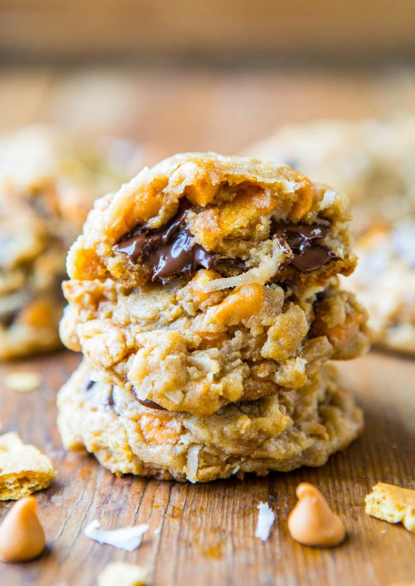 Soft and Chewy Seven Layer Magic Bar Cookies - Cookies Made Like the Classic Bars. Recipe at averiecooks.com