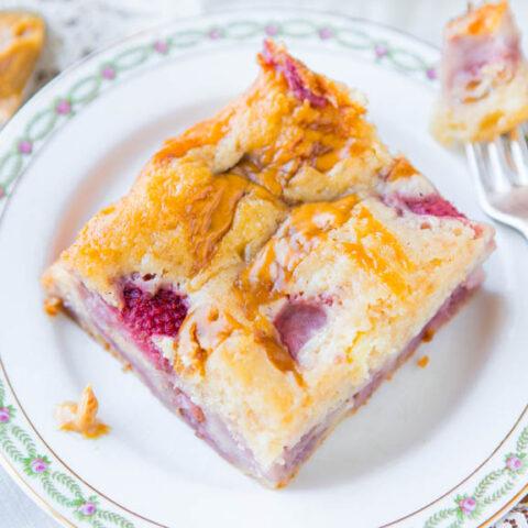 Peanut Butter-Swirled Strawberry Cake