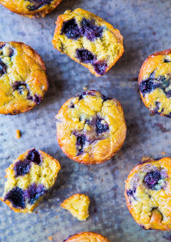 best blueberry muffins, with one cut in half