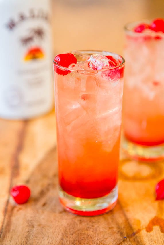 Malibu Sunset — A fun, fruity, easy Malibu drink recipe!