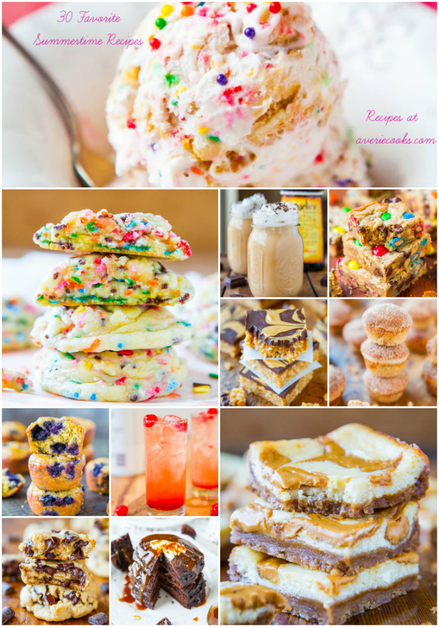 Last Days of Summertime Favorite 30 Recipes - at averiecooks.com