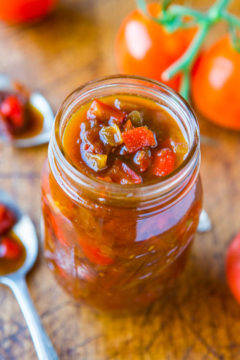 One-Hour Sweet with Heat Tomato and Pepper Chutney