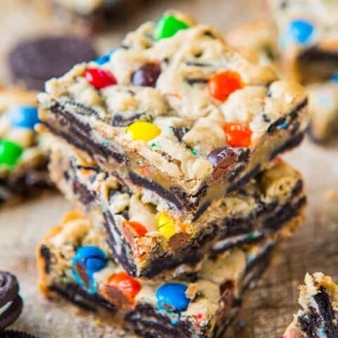 Loaded M&M's Oreo Cookie Bars
