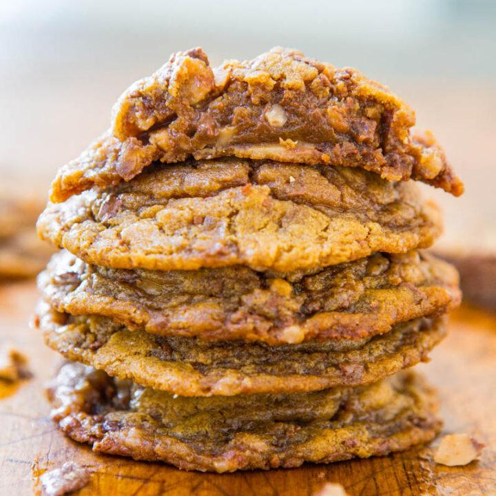 Peanut Butter Toffee Bit Cookies