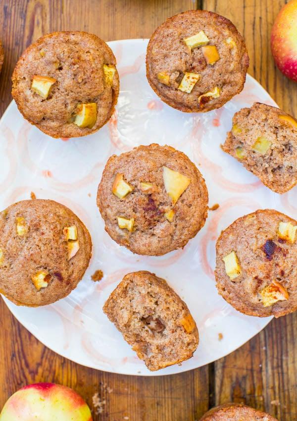 Vegan Apple Cinnamon Muffins on plate