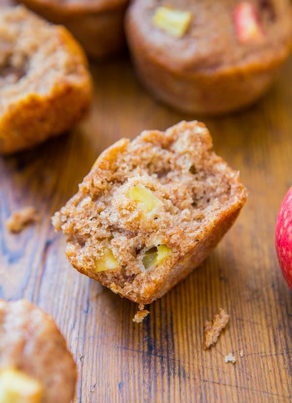 Vegan Apple Cinnamon Muffin cut in half