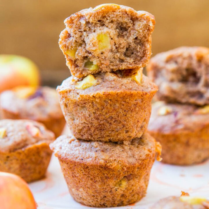 Vegan Chunky Apple Cinnamon Muffins
