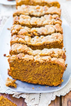 Soft Vegan Pumpkin Bread with Brown Sugar Streusel Crust