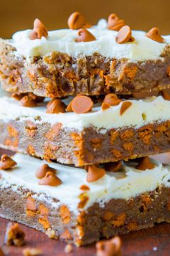 White Chocolate-Topped Cinnamon Chip Cinnamon Bars