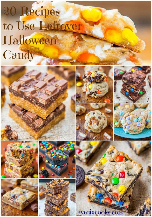 20 Recipes to Use Leftover Halloween Candy - from averiecooks.com