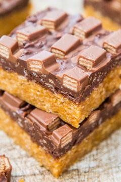 Chocolate Peanut Butter Kit Kat Crunch Bars