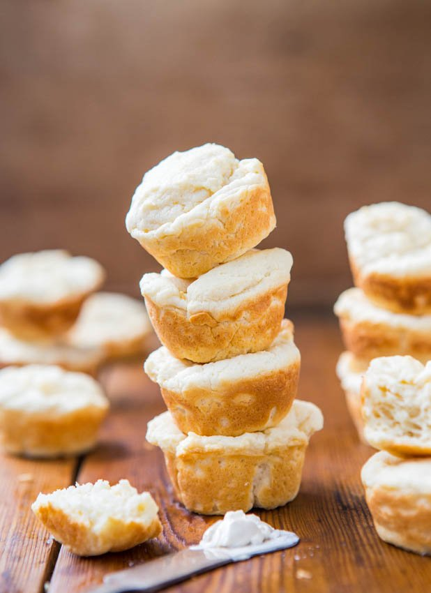 Soft Baked Mini Cream Cheese Puffs - Easy Recipe Ready in 15 minutes from averiecooks.com