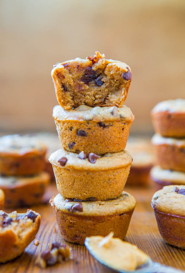 gluten free peanut butter chocolate chip muffins
