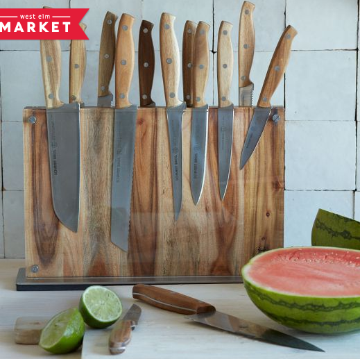 Schmidt Brothers 15-Piece Knife Set with Downtown Block