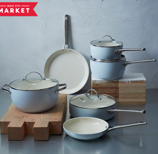 10-Piece Set of Greenpan® pots and pans
