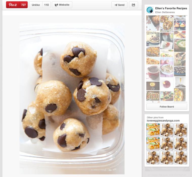 Healthy Chocolate Chip Cookie Dough Bites screenshot