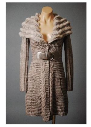 Veronica Fur Sweater Coat