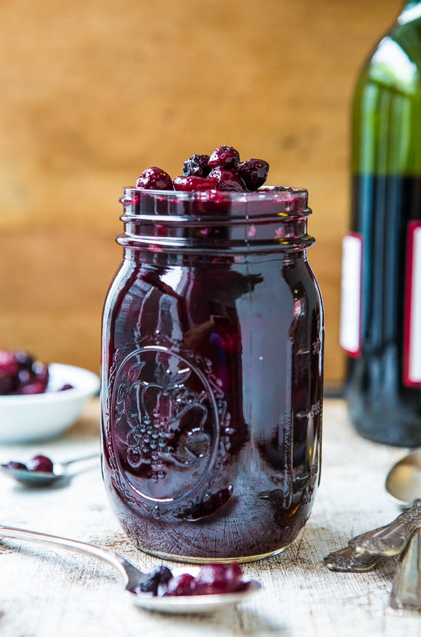 Cabernet Cranberry and Blueberry Sauce - Make your own cranberry sauce with amazing depth of flavor in 30 minutes!! Easy recipe that everyone LOVES!!