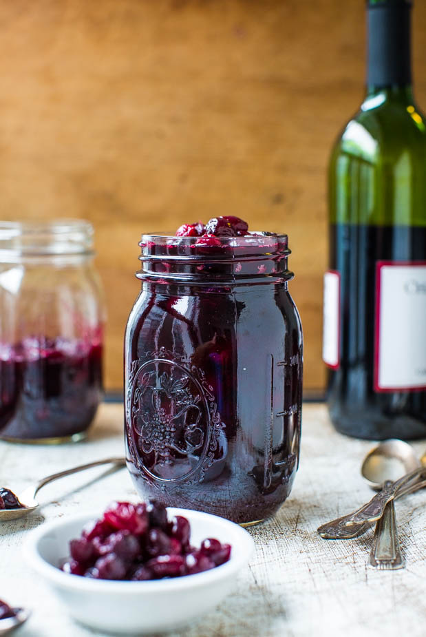 Cabernet Cranberry and Blueberry Sauce (vegan, GF) - Make your own cranberry sauce with amazing depth of flavor in 30 minutes! Easy recipe at averiecooks.com