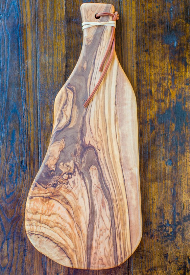 Olive wood board  from West Elm