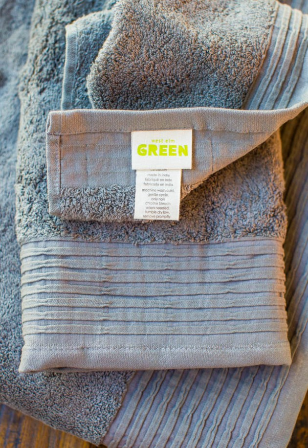 Organic Pleated Edge Towels