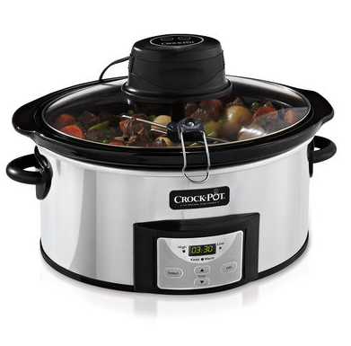 Crock-Pot® Programmable Slow Cooker with iStir™ Stirring System.