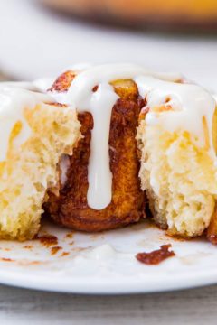 One-Hour Homemade Cinnamon Rolls with Cream Cheese Frosting