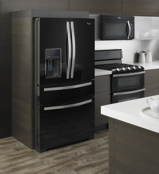 Whirlpool black refrigerator