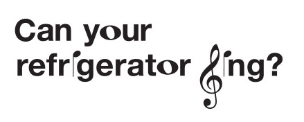 Can your refrigerator sing image