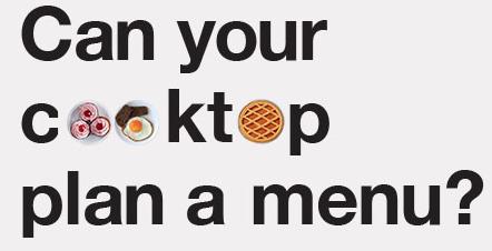 Interactive cooktop logo
