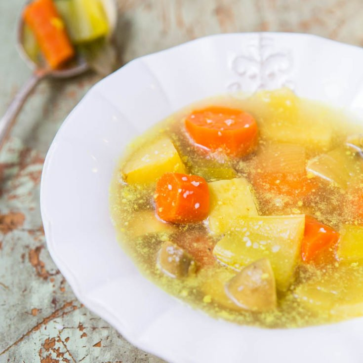 Homemade Vegetable Soup and Broth