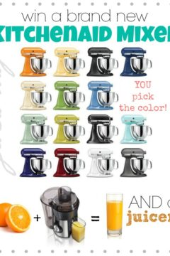 KitchenAid Stand Mixer + Hamilton Beach Juicer Giveaway!