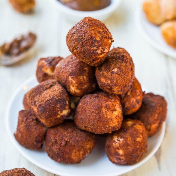 One-Hour Chocolate and Cinnamon-Sugar Soft Pretzel Bites