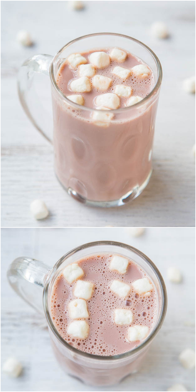 Skinny 105-Calorie Hot Chocolate - You won't miss the calories and fat in this chocolaty and creamy skinny treat!