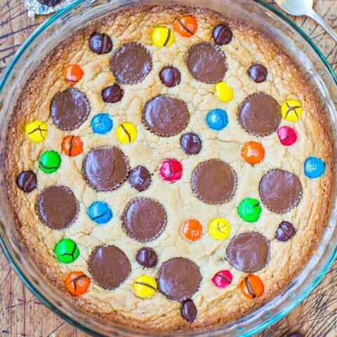 Triple Peanut Butter Cookie Pie