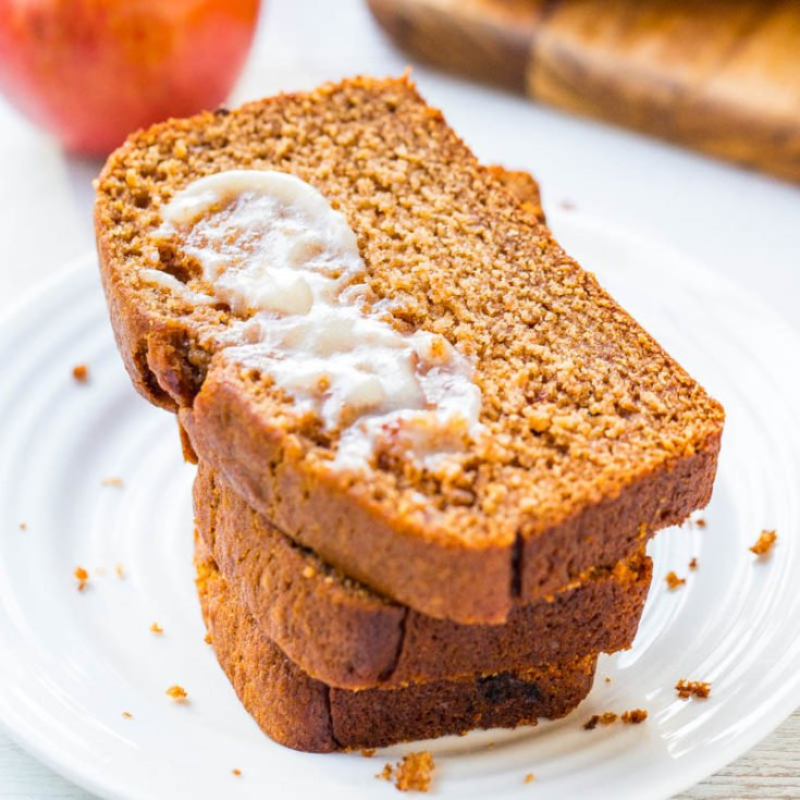 Applesauce Bread with Honey Butter