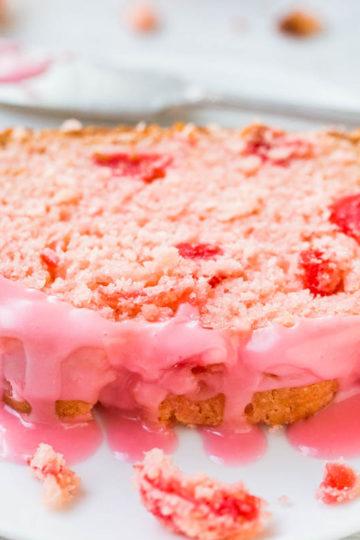 Sweet Soft Cherry Bread with Cherry-Almond Glaze
