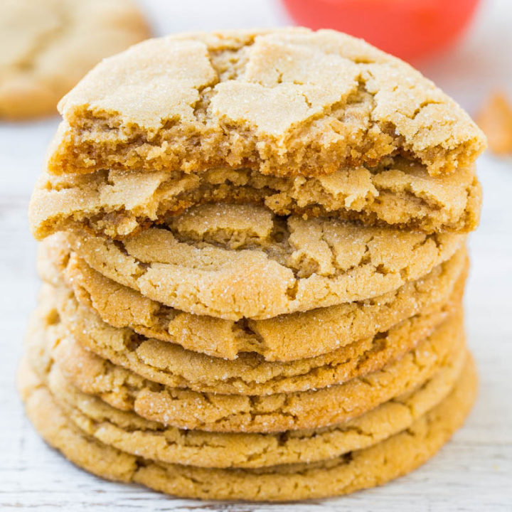 Chewy and Soft Peanut Butter Cookies