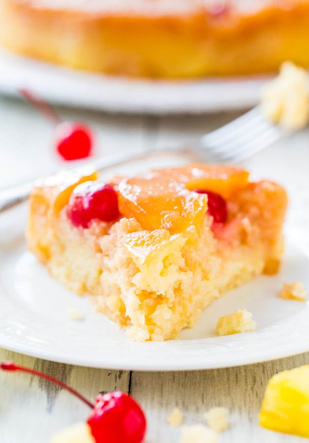 The Best Pineapple Upside-Down Cake - So soft, moist, and really is The Best!! A cheery, happy cake that's sure to put a smile on anyone's face! This 100% from-scratch cake is an EASY reader favorite you're going to love!!