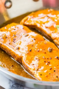 Maple Barbeque-Glazed Salmon