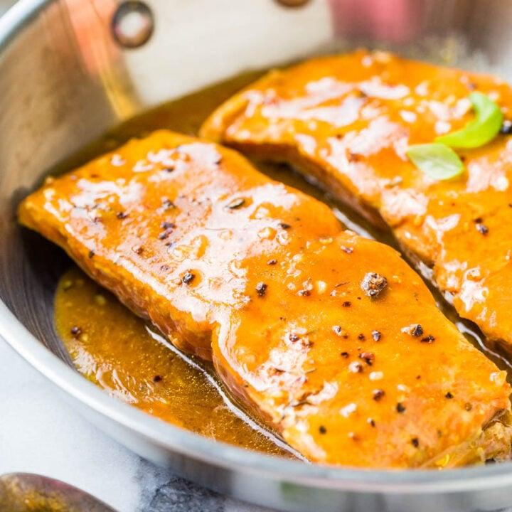 Skillet BBQ Salmon