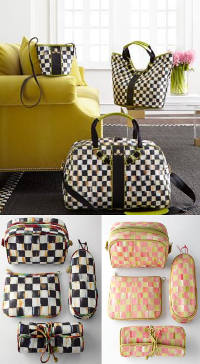 3 picture collage of MacKenzie-Childs' Personal Accessories Line