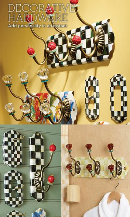 Decorative Hardware 3 picture collage from Mackenzie-Childs