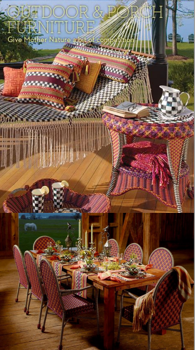 2 picture collage of outdoor furniture