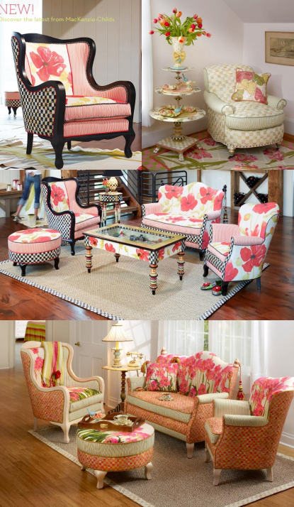 3 picture collage of furniture